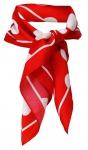 TigerTie Seiden Nickituch Satin in rot weiss gepunktet - Größe 50 x 50 cm