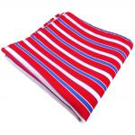 Einstecktuch rot verkehrsrot knallrot blau weiß gestreift - Tuch 100% Polyester
