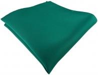 TigerTie Satin Einstecktuch in petrolgrün einfarbig Uni - Größe 26 x 26 cm