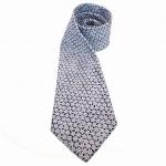 MEXX Krawatte Blau Dunkelblau mit Blumenmuster - Seide