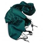Schal in grün dunkelgrün schwarz gemustert Gr. 175x68 cm - 100% Viskose