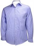 Ben Green Hemd in blau weiss kariert langarm bügelfrei - Kent-Kragen Hemd Gr. 39