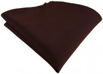 TigerTie Satin Einstecktuch in dunkelbraun einfarbig Uni - Größe 26 x 26 cm