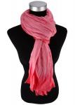 Raffschal in koralle rosa verlauf - Schal Grölße 190 x 100 cm