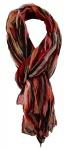 TigerTie - Chiffon Designer Schal in rot rosa braun grau schwarz gestreift