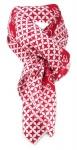 Halstuch rot grau mit vielen kleinen Motiven und Sternen - Größe 100 x 100 cm