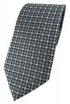 TigerTie Designer Krawatte in anthrazit silber schwarz gemustert