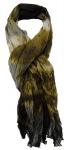 TigerTie Chiffon Schal braun grau schwarz creme gemustert - Gr. 180 x 100 cm