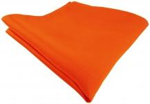 TigerTie Satin Seideneinstecktuch in orange einfarbig - Einstecktuch 100% Seide