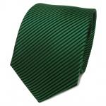 TigerTie Designer Seidenkrawatte grün laubgrün schwarz gestreift- Krawatte Seide