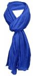 TigerTie Schal gecrasht in blau royalblau einfarbig Uni - Gr. 160 x 70 cm