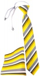 TigerTie Kinderkrawatte + Einstecktuch in gelb grau weiss schwarz gestreift