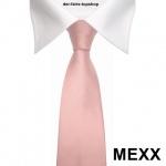 Mexx Krawatte in Uni rosa Seide Silk