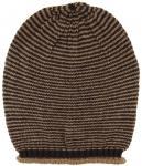 Strickmütze in braun dunkelbraun gestreift - Wintermütze ca. 28 cm x 24 cm