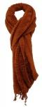 TigerTie Designer Schal in dunkelorange einfarbig Uni - Größe 260 x 60 cm