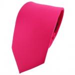 TigerTie Designer Krawatte pink knallpink neonfarben einfarbig uni - Binder Tie