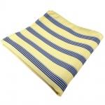 Einstecktuch in gelb blau schwarz weiss gestreift - Tuch in 100% Polyester
