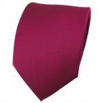 schöne feine TigerTie Designer Krawatte in beere feinrips uni - Binder Tie
