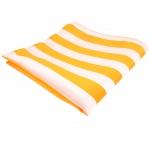 TigerTie Designer Einstecktuch in gelb goldgelb weiß - Tuch 100% Polyester