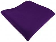 TigerTie Satin Einstecktuch in dunkellila einfarbig Uni - Größe 26 x 26 cm
