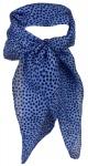 Damen TigerTie Nickituch in blau marine - Halstuch 100% Seide - 50 x 50 cm