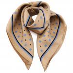 Damen Nickituch in Seide beige gold blau schwarz 53 x 53- Tuch Halstuch Schal