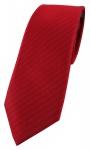 Enrico Sarto hochwertige Designer Seidenkrawatte in rot knallrot uni gestreift