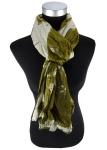 Raffschal in olivegrün hellgrün gemustert - Schal Größe 180 x 100 cm