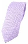 schmale TigerTie Designer Krawatte Pique in flieder gemustert - Baumwolle