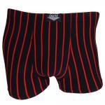 Boxershorts Unterhose Pants Retro Shorts schwarz-rot Baumwolle Gr. M