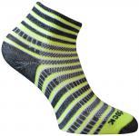 WRIGHTSOCK Sportsocke Coolmesh II neon gelb anti-blasen Socken mittellang Gr.L