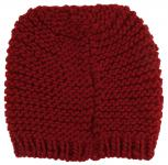 Damen Strickmütze rot dunkelrot Uni - Wintermütze Mütze Größe M