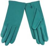 Damen Lederhandschuhe - hochwertiges weiches Schafsleder in mint grün - Gr. 7, 5