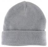 feine Strickmütze in grau Uni - Damen Mütze Gr. M - Wintermütze