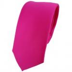 schmale TigerTie Designer Krawatte in pink rosa einfarbig Uni