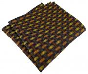 TigerTie Designer Einstecktuch orange gelb braun schwarz - Motiv Flechtmuster