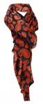 edler Schal in rotbraun schwarz grau Paisley gemustert - Schalgröße 180 x 100 cm