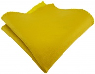 TigerTie Ledereinstecktuch in gelb einfarbig Uni - Einstecktuch 100% Lammnappa
