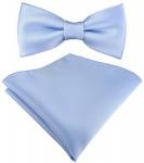 Kleinkinder Baby Fliege in hellblau mit Gummizug + Einstecktuch + Box