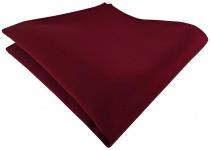 TigerTie Satin Einstecktuch in bordeaux einfarbig Uni - Größe 26 x 26 cm