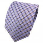 TigerTie Seidenkrawatte hellblau blau silber gestreift - Krawatte 100% Seide