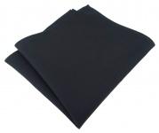 TigerTie Einstecktuch aus 100% Baumwolle schwarz Uni - Einstecktuch 26 x 26 cm