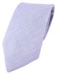 TigerTie Designer Krawatte Pique in blau-weiss gemustert - 100% Baumwolle