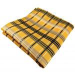 Einstecktuch in gold silber grau anthrazit kariert - Tuch 100% Polyester