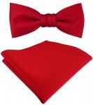 SET Kleinkinder Baby Fliege in rot, Fliege verstellbar + Einstecktuch + Box