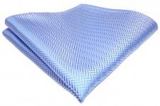 TigerTie Einstecktuch in hellblau silber Größe 25 x 25 cm - Tuch 100% Polyester
