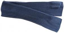 Strick Handstulpen Armstulpen in blaugrau Uni - fingerlose Handschuhe Gr. M