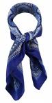 TigerTie Damen Nickituch Halstuch in blau marine royal silber grau gemustert