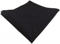 TigerTie Einstecktuch in schwarz einfarbig - 100% Baumwolle - Gr. 34 x 34 cm