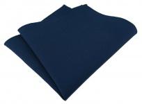 TigerTie Einstecktuch aus 100% Baumwolle in marine Uni - Einstecktuch 26 x 26 cm